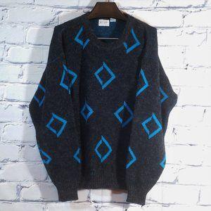VTG Geometric Knit Sweater Diamond Carlton Cosby